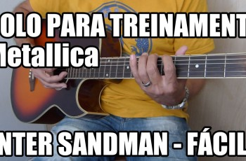 Riff da Música Enter Sandman – Metallica