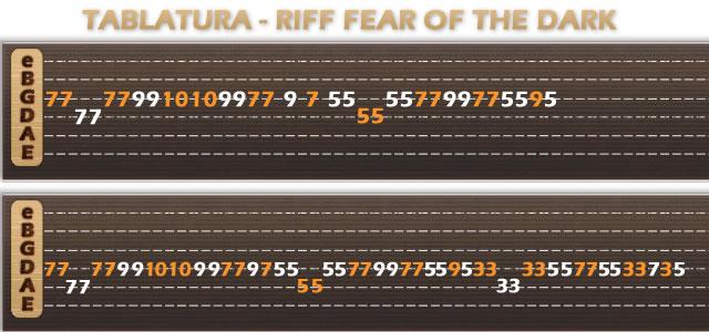 fear of the dark tab pdf